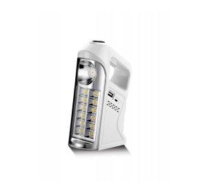 Φακός LED Επαναφορτιζόμενος Λευκός Με Χειρολαβή 7W 6400K 10Hour