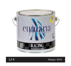 EUMARIA RACING BLACK 2,5L- Σκληρό Αυτοκαθαριζόμενο Υφαλόχρωμα Yψηλών ταχυτήτων Ναυτιλιακά είδη, μαύρο