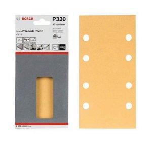 10 Φύλλα λείανσης C470 για παλμικά τριβεία, 93x186mm, 8 τρύπες