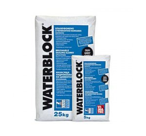 WATERBLOCK ΓΚΡΙ 5kg Ανόργανο επαλειφόμενο στεγανωτικό κονίαμα