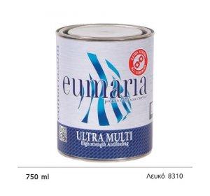 EUMARIA ULTRA MULTI WHITE 750ML- Αυτοκαθαριζόμενο Υφαλόχρωμα Ναυτιλιακά είδη, χρώματα για μεγάλους χρόνους ελλιμενισμού, λευκό άσπρο