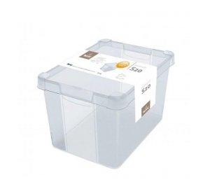 Milano Box 206. 20L. Κουτί αποθήκευσης με καπάκι, Διάφανο, PVC