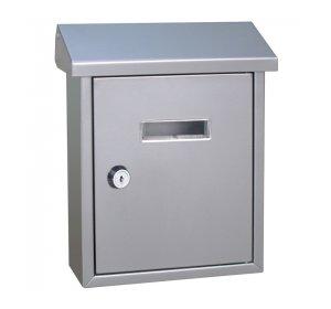 Easy, Γραμματοκιβώτιο, 190x80x255mm, Ασημί