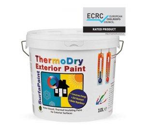 Surfapaint ThermoDry Exterior 10L Θερμομονωτικό ψυχρό χρώμα