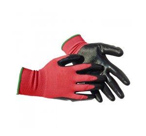 Γάντια νιτριλίου Sandy μαύρα κόκκινα