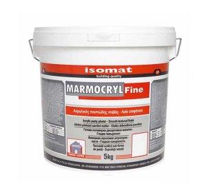 MARMOCRYL FINE 1.5mm Λευκός 5kg Ακρυλικός έτοιμος σοβάς