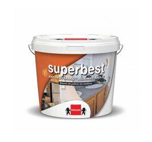SUPERBEST Λευκό 9lt-Αντιμουχλικό υδατοδιάλυτο χρώμα
