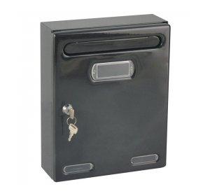 Personal, Γραμματοκιβώτιο, 190x80x255mm, Μαύρο
