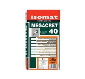 MEGACRET 40 Γκρι 25kg Ινοπλισμένο επισκευαστικό τσιμεντοκονίαμα