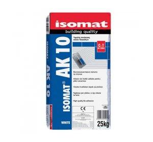ISOMAT AK 10 Λευκή 25kg Κόλλα πλακιδίων τσιμεντοειδούς βάσης