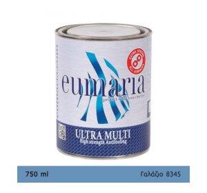 EUMARIA ULTRA MULTI L.BLUE 750ML- Αυτοκαθαριζόμενο Υφαλόχρωμα, Ναυτιλιακά είδη, χρώματα για μεγάλους χρόνους ελλιμενισμού, γαλάζιο