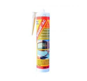 Sikasil AC 250ml. Ακετοξική σιλικόνη γενικής χρήσης. Λευκό