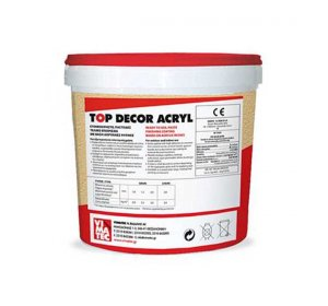 TOP DECOR ACRYL GRAIN 1mm, Λευκό 25kg- Έτοιμο τελικό επίχρισμα