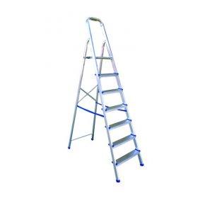Σκάλα αλουμινίου SUPER PROFAL-7+1 πατήμ. Ελαφριά, Αντιολίσθησης