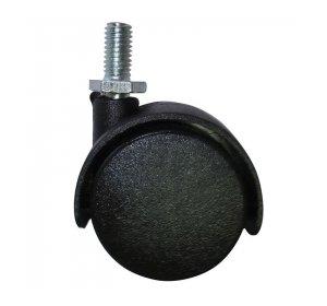Ρόδα διπλή Φ40mm Με βίδα 8x15mm, 25kg, Μαύρη