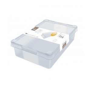 Milano Box S24. 24L. Κουτί αποθήκευσης, Διάφανο, PVC