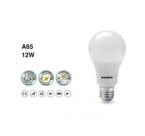 LED A65 12W E27 12W 4000K Λευκό Ψυχρό