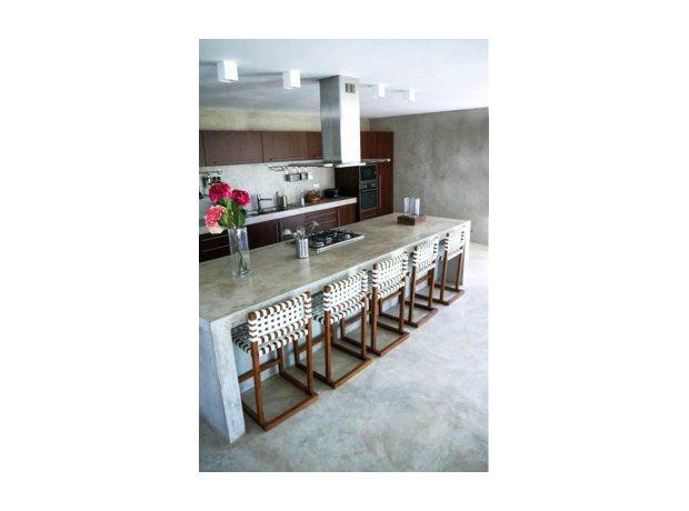 Πατητή τσιμεντοκονία Κουζίνα τραπεζαρία διακόσμηση τοίχος δάπεδο