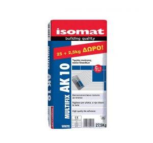 ISOMAT AK 10 Λευκή 25kg Κόλλα πλακιδίων τσιμεντοειδούς βάσης.jpg
