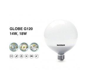 LED GLOBE G120 E27 14W 1200LM  3000K Λευκό Θερμό