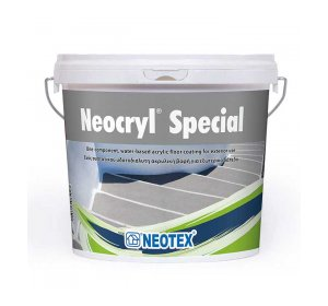 Neocryl Special 4kg Λευκό. Βαφή εξωτερικών δαπέδων