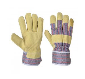 Γάντια γενικής χρήσης Δερματοπάνινα κίτρινα