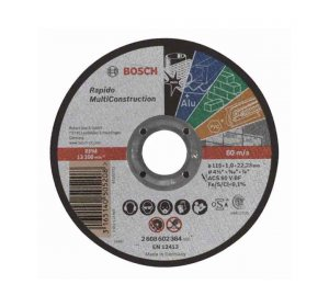 Rapido Φ115mmx1mm Δίσκος κοπής πολλαπλών εφαρμογών