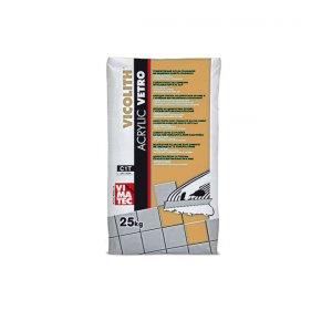 VICOLITH ACRYLIC VETRO 25kg-Συγκολλητικό κονίαμα για υαλότουβλα