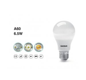 LED A60 E27 6.5W LM500 3000K Λευκό Θερμό