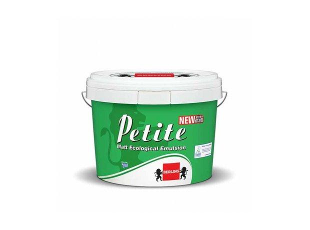 Petite Matt.Οικολογικό πλαστικό ματ χρώμα για εσωτερικές επιφάνειες. Λευκό