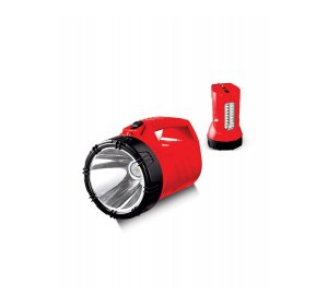 Φακός LED Επαναφορτιζόμενος Κόκκινος 10W 6400K 10Hours