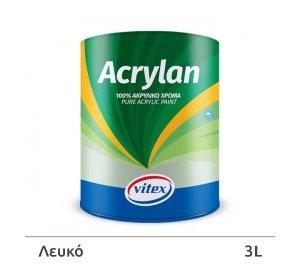 Acrylan.  Ακρυλικό ψυχρό χρώμα. Εξωτερικής χρήσης.  Λευκό