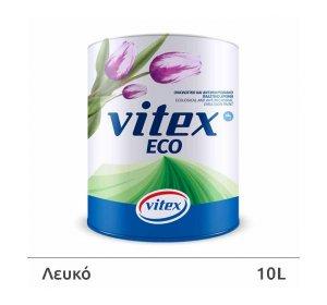 Vitex ECO. Οικολογικό αντιμικροβιακό πλαστικό χρώμα εσωτερικής χρήσης.  Λευκό