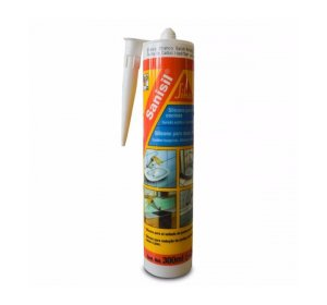 Sanisil 300ml Αντιμυκητική σφραγιστική σιλικόνη, Λευκό