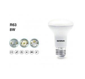 LED R63 E27 8W 4000K Λευκό Ψυχρό 640LM