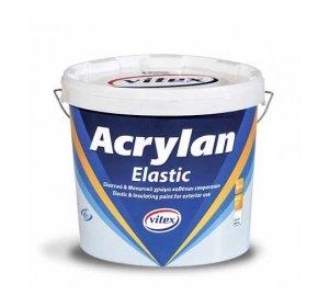 Acrylan Elastic Λευκό 10lt- Μονωτικό χρώμα καθέτων επιφανειών, Ελαστομερές στεγανωτικό