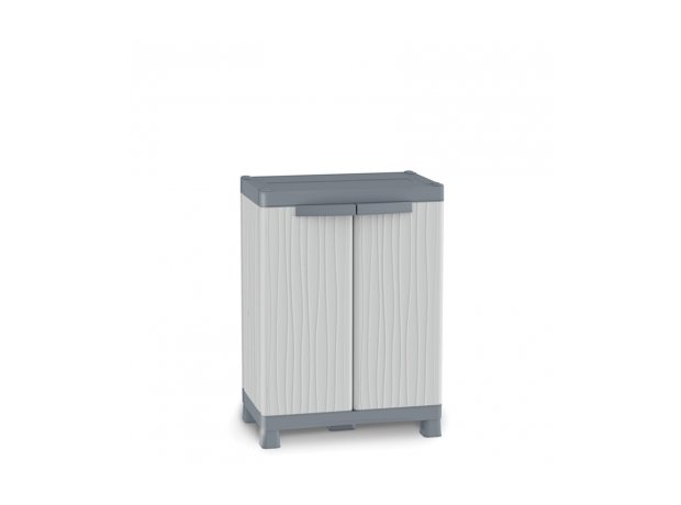 Wave Base 700 Δίφυλλο ντουλάπι PVC με 2 ράφια