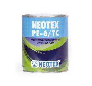 NEOTEX ΡΕ-6/ΤC-1kg-Θιξοτροπικός πολυεστέρας με επιταχυντή & Καταλύτης MEKP-50  25gr
