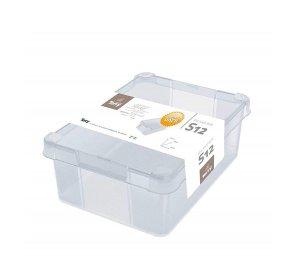 Milano Box 126. 12L. Κουτί αποθήκευσης με καπάκι, Διάφανο, PVC