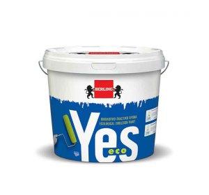 Yes eco. Οικολογικό  υδατοδιάλυτο πλαστικό χρώμα εσωτερικής  χρήσης.  Λευκό