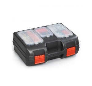 Case 1T Εργαλειοθήκη για διάφορα εργαλεία Μαύρο-κόκκινο 405x300x155mm